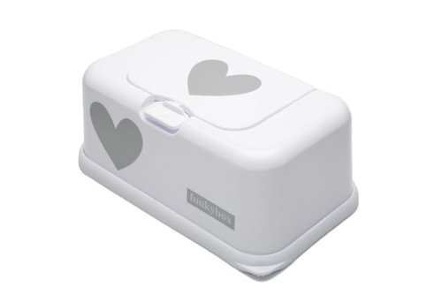 fb6cdc5eaf6 FunkyBox – White with Grey Hearts - Buy Online in Oman. | Baby Product  Products in Oman - See Prices, Reviews and Free Delivery in Muscat, Seeb,  Salalah, ...