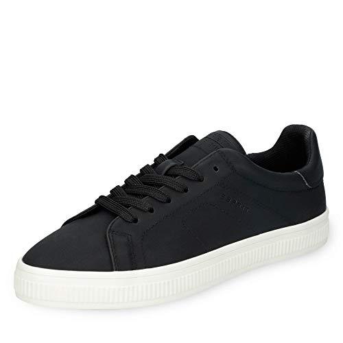 ESPRIT 019EK1W025-001 Sonetta Lu Damen Sneaker aus Lederimitat mit Textilfutter, Groesse 41, schwarz