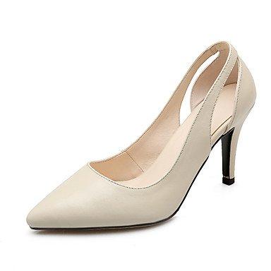 Moda Donna Sandali Sexy donna tacchi Primavera / Estate / Autunno Punta pelle vestito Stiletto Heel altri nero/beige a piedi Black