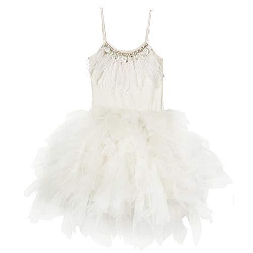 White Kostüm Swan Kind - HUO FEI NIAO Ballett Rock Swan Tanzkleid 4 Farben (Farbe : Weiß, größe : 120cm)