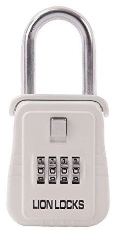 Lion Locks 1500 Key Storage Lock Box with Set Your Own Combination, White by Lion Locks -