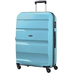 American Tourister Bon Air - Spinner Large Bagage cabine, 75 cm, 91 liters, Bleu (Blue Topaz)