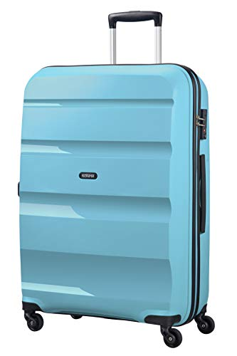 American tourister bon air, spinner large, 75 cm, 91 liters, blu (blue topaz)