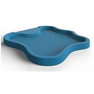 Arkema D108 5012 Polyethylene HD Shower Base, Lake Design, Self-Standing, Blue