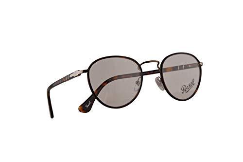 Persol 2410-V-J Eyeglasses 49-20-140 Matte Dark Brown w/Demo Clear Lens 992 PO 2410VJ PO2410VJ PO2410-V-J