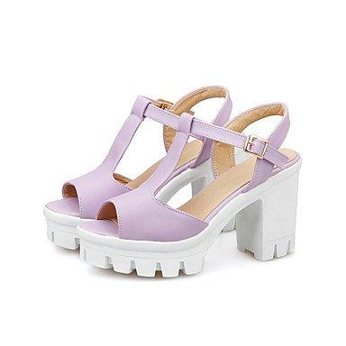 LvYuan Da donna-Sandali-Ufficio e lavoro Formale Casual-Club Shoes-Quadrato-PU (Poliuretano)-Blu Rosa Viola Bianco Purple