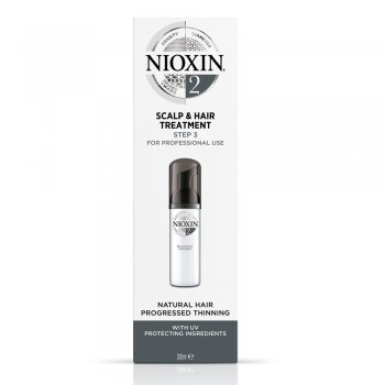 Nioxin System 2 Scalp Treatment with UV Defense Ingredients For Fine Hair, Noticeably Thinning Hair 200ml