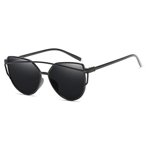 Kjwsbb Sonnenbrille Frauen Auge Twin-Beam Spiegel Flat Vintage Sonnenbrille Lady Mirroed Eyewear