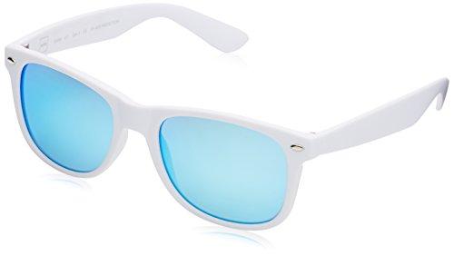 MSTRDS Likoma Mirror, Occhiali da Sole Unisex-Adulto, Weiß (White/Blue 4444), Taglia Unica