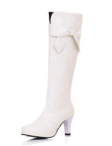ShangYi Mode Frauen Schuhe Damen Stiefel Fr眉hjahr / Herbst / Winter Fashion Stiefel / Runder Kunstleder Outdoor / Casual stiletto-Absatz Wei