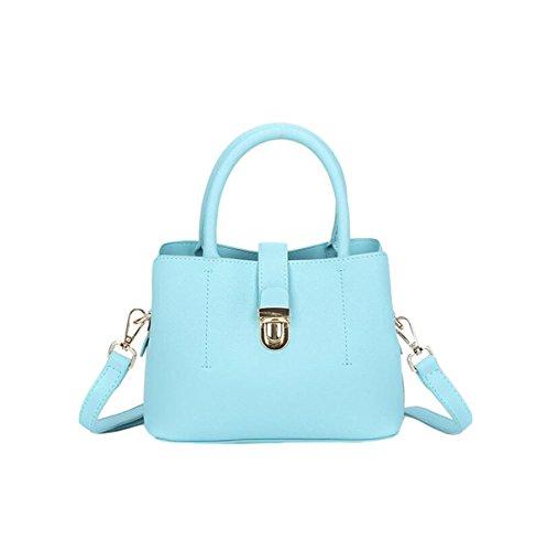 Einfache Art Und Weisehandtaschen-Schulterbeutel-diagonale Querpaket-Pendlerhandtaschen-Nieten Kleine Quadratische Beutelwölbung Blue