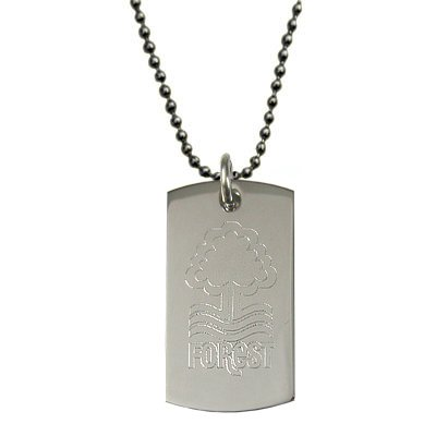Nottingham Forest FC inciso Crest Dog tag & Chain