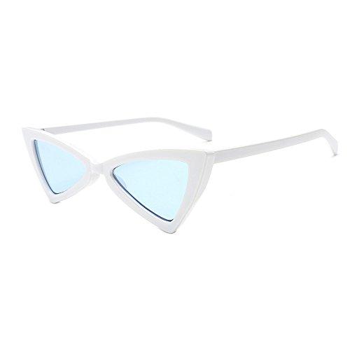 Occhiali da Sole Vintage,WQIANGHZI Polarizzati Vogue Donna Protezione UV Sunglasses Triangolo Cat Eye Forma Lenti retrò Viaggio Spiaggia Eyewear