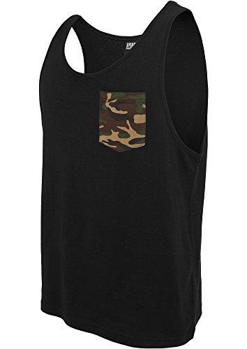 Urban Classics Herren TB633 Contrast Pocket Jersey Big Tank Muskelshirt blk/woodcamo