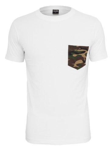 Urban Classics Herren T-Shirt Rundhals Camo Pocket wht/camo