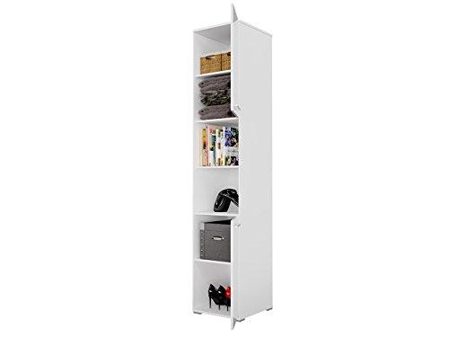 Mirjan24  Schlafzimmer-Set Concept Pro I Vertical, Wandklappbett und 2 Regale, Wandbett mit Lattenrost, Bettschrank, Klappbett, Funktionsbett (Weiß, CP-01 (140×200)) - 5