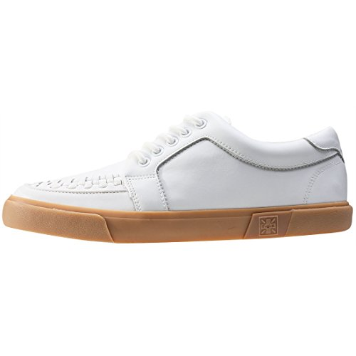 T.U.K. VLK Creeper Sneaker Wht Leath Gum Sole, Basse Unisex - Adulto White Gum