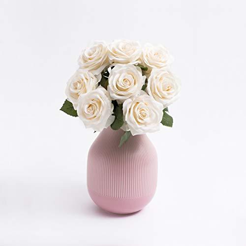 Decoration & Design Kunstblumenstrauß zur Dekoration aus Hochwertiger Seide - weiße Rosen