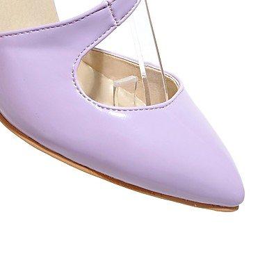 LvYuan Damen-Sandalen-Outddor Büro Lässig-PU-Stöckelabsatz-Andere-Lila Silber Mandelfarben Purple