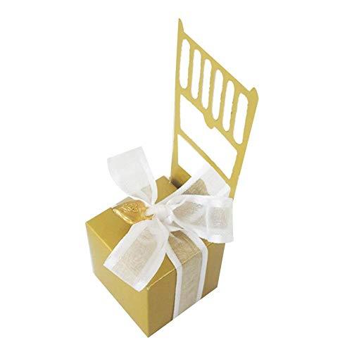 Augneveres Hochzeit Gunst Geschenkbox Hochzeit Süßigkeiten Geschenk Hochzeit Liefert Stuhl Form Candy Box Europäischen Stil Für Hochzeit Gefälligkeiten, Geschenke Festival Party 50 STÜCKE