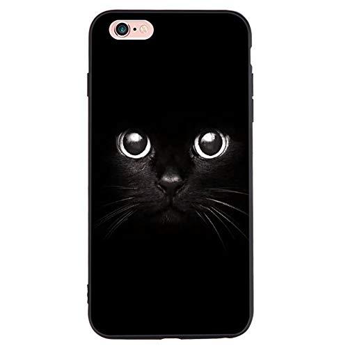 GFULLOV für 5 5s Schwarz I7 Sets TPU Fledermaus Muster Handy Hülle für 6 6S 7 Plus - iPhone 5 5s se -
