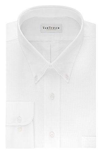 Oxford Woven Dress Shirt (Men's Classic Long-Sleeve Oxford WHITE 3XL)