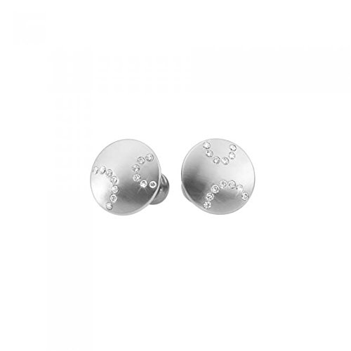 XEN Damen-Ohrstecker Edelstahl/Diamant 2 Brillanten zus. ca. 0,13 ct. One Size, silber