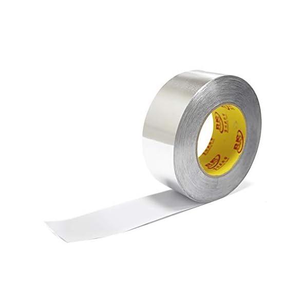 XKBESTGO Cinta de Washi de Aluminio Cinta de papel de aluminio Cinta adhesiva de aluminio Calor alto Impermeable