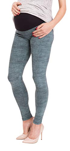 BeLady Damen Leggins Umstandsleggins für Schwanger Knöchellang Abnehmen Hose mit Hoher Bund aus Baumwolle Viele Muster 36,38,40,42,44,46,48,50,52 (Doris, XL - 42)