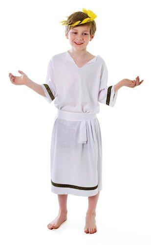 Kinder alten griechischen Gottes Cäsaren-Kostüm Jungen Outfit 7-10 Jahre (Griechischer Für Gott-kostüm Jungen)