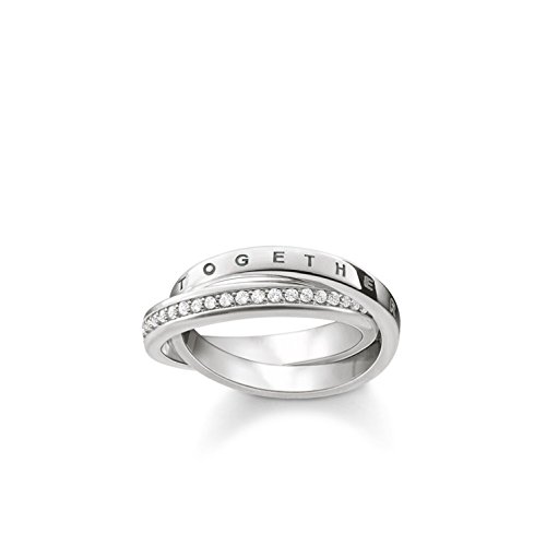 Thomas Sabo Women Ring Together Forever 925 Sterling Silver TR2099-051-14