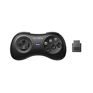 8Bitdo M30 2.4G Wireless Gamepad for the Original for Sega Mega Drive/Genesis – Black (Platform: Sega Mega Drive)