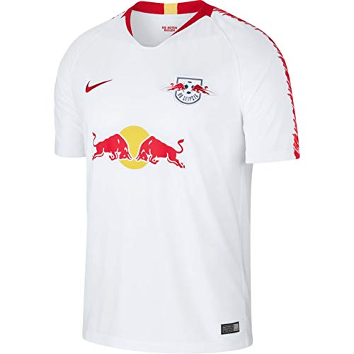 Nike Herren RB Leipzig Breathe Stadium Home T-Shirt, White/University Red, S (Herren Nike Fußball-kit)