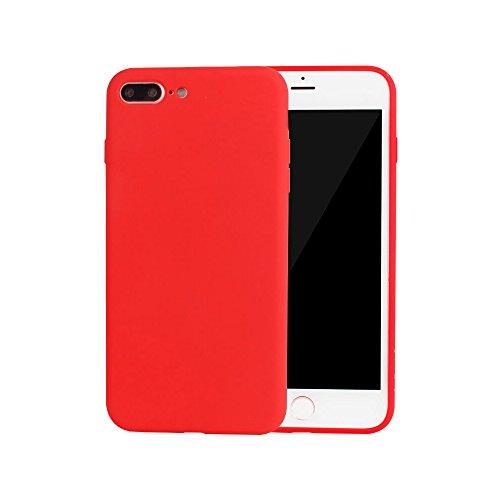 custodia iphone 7 plus silicone rossa
