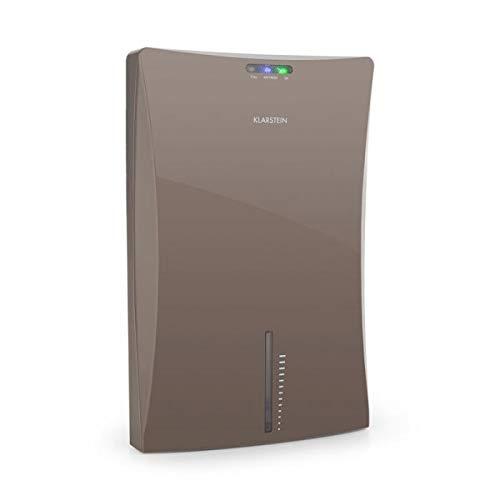 Klarstein Drybest 2000 2G - Luftentfeuchter, Luftreiniger, elektrischer Raumentfeuchter, 0,7 Liter/24 h, 70 Watt Kompressor, leiser Betrieb, 2 L Wassertank, integrierter Ionisator, grau