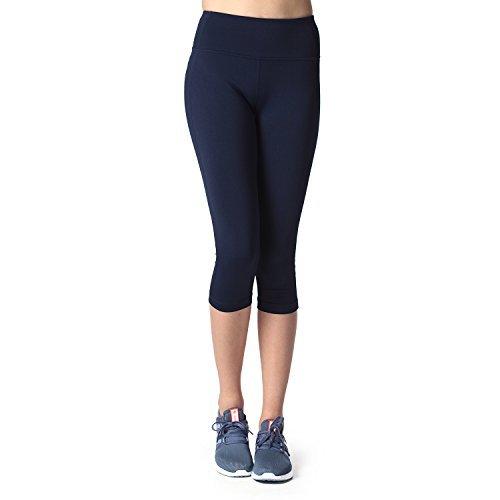 Lapasa-Donna-Capri-Leggings-34-Allenamento-Opaco-Yoga-Fitness-Spandex-Palestra-Pantaloni-small-A-Blu-scuro