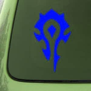 Autocollant wORLD oF wARCRAFT hORDE pVP-wOW - 76 mm-bLUE window decal sticker vinyle