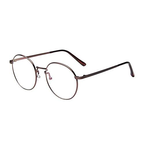 Preisvergleich Produktbild Zhuhaixmy Jahrgang Runden Felge Modisch Tempel Kurzsichtigkeit Brillen Kurz Sigth Komfortabel Brille Eyewear Beschichtung Linsen (Stärke -1.5, Kupfer) (Diese sind nicht Lesen Brille)
