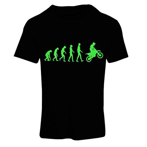 Frauen T-Shirt Motocross-Entwicklungs-Schmutz-Fahrrad, Motorrad-Gang, laufende Abnutzung, Motorrad Weg von Roading (XX-Large Schwarz Grün) -