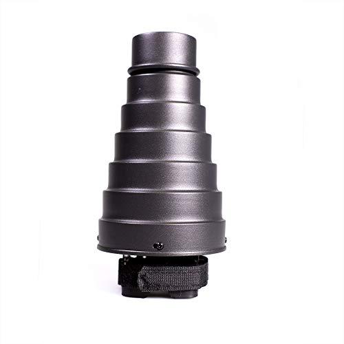 Fovitec Kamera Flash Snoot für Speedlight, Lichtformer für Portrait, Neugeborene, Hochzeit und Produktfotografie - Spotlight-Effekt (inkl. Wabenaufsätze) Flash Snoot