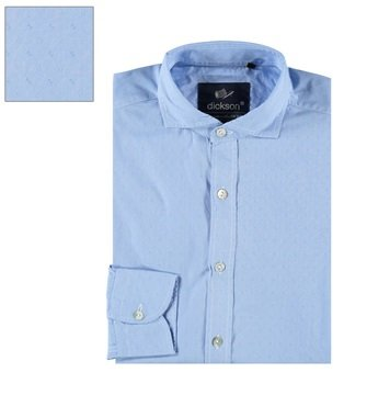 DICKSON Herren Freizeit-Hemd Hellblau