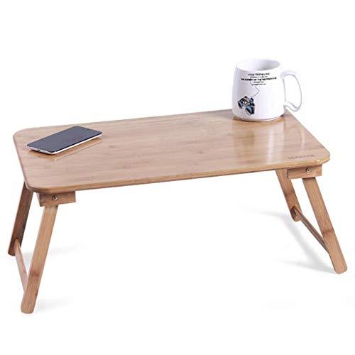 YGD Klappbarer Stehtisch, Bambusbett Kleiner Schreibtisch Kinder Spielen Picknick Kleiner Tisch Tragbar, Multifunktions-Werkbank, Einfach Zu Lagern, Geeignet for Den Innen- Und Außenbereich