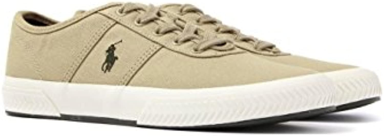 POLO RALPH LAUREN Tyrian Sneaker Canvas khaki  Billig und erschwinglich Im Verkauf