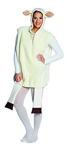 Weisses Schaf Unisex Tierkostüm Schafkostüm Tunika Kostüm