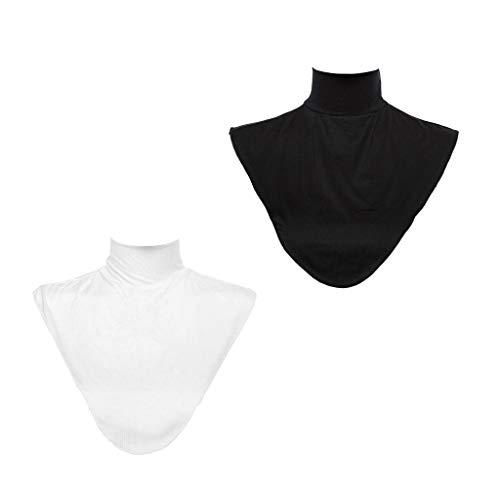 Damen Rollkragen Mock (FLAMEER 2 / Set Damen Modal Abnehmbare Rollkragen Dickey Stays Kragen Hijab Hals Abdeckung)