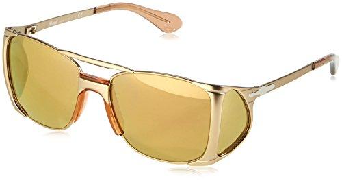 Persol Unisex PO2435S Sonnenbrille, Gestell: alt, Gläser: braun-verspiegelt Gold 1054W4, Medium (55)