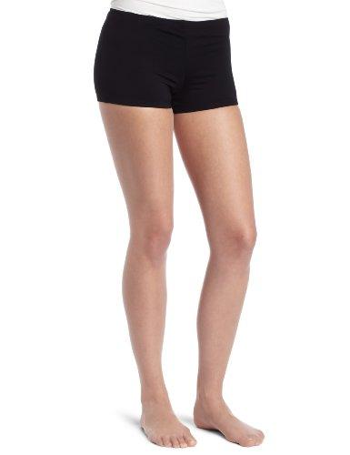 Danskin Damen Shorts Boy-Cut - Schwarz - Klein (Shorts Damen Danskin)