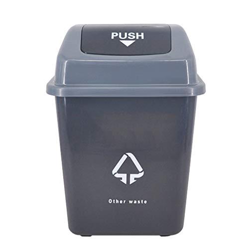CXZS Trash can Mülleimer mit Deckel klassifiziert Mülleimer im Freien Plastiksanitär-Eimer-ländlicher Park-Straßen-Abfallbehälter