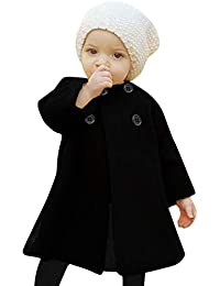 Abrigo de Capucha Bebé otoño Invierno,JiaMeng Ropa de Abrigo Abrigada con Botones para niños bebé Outwear