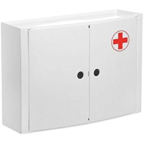 TATAY 4480209armario horizontal 2puertas a farmacia plástico 46x 15,5x 32cm), color blanco